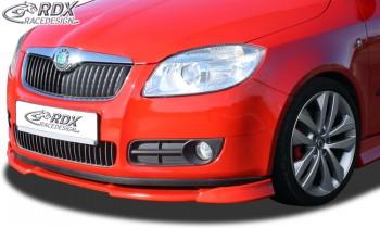 RDX Frontspoiler VARIO-X SKODA Fabia 2 Typ 5J -2010 (auch für Roomster) Frontlippe Front Ansatz Vorne Spoilerlippe