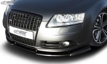 RDX Frontspoiler VARIO-X für AUDI A6 4F -2008 (S-Line Frontstoßstange) Frontlippe Front Ansatz Vorne Spoilerlippe