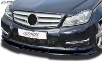 RDX Frontspoiler VARIO-X für MERCEDES C-Klasse W204 / S204 AMG-Styling 2011+ (Passend an Fahrzeuge mit AMG-Stylingpaket Frontstoßstange) Frontlippe Front Ansatz Vorne Spoilerlippe