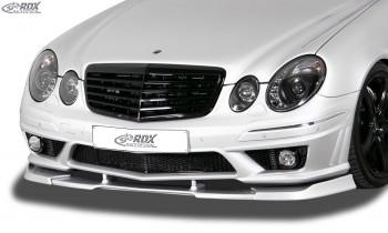 RDX Frontspoiler VARIO-X MERCEDES E-Klasse W211 AMG 2006-2009 (Passend an AMG bzw. Fahrzeuge mit AMG Frontstoßstange) Frontlippe Front Ansatz Vorne Spoilerlippe