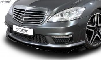 RDX Frontspoiler VARIO-X MERCEDES S-Klasse W221 AMG 2009+ (Passend an AMG bzw. Fahrzeuge mit AMG Frontstoßstange) Frontlippe Front Ansatz Vorne Spoilerlippe