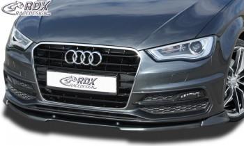 RDX Frontspoiler VARIO-X AUDI A3 8V, 8VA Sportback, 8VS Limousine, 8V7 Cabrio S-Line / S3 (S-Line- bzw. S3 Frontstoßstange) Frontlippe Front Ansatz Vorne Spoilerlippe