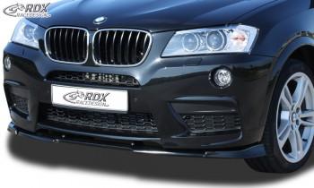 RDX Frontspoiler VARIO-X BMW X3 F25 M-Technik -2014 Frontlippe Front Ansatz Vorne Spoilerlippe