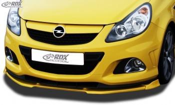 RDX Frontspoiler VARIO-X OPEL Corsa D OPC -2010 Nürburgring Edition (Passend an OPC-NRE bzw. Fahrzeuge mit OPC Frontstoßstange und NRE Ansatz) Frontlippe Front Ansatz Vorne Spoilerlippe