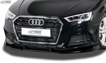 RDX Frontspoiler VARIO-X AUDI A3 8V, 8VA Sportback, 8VS Limousine, 8V7 Cabrio S-Line & S3 (Facelift 2016+) Frontlippe Front Ansatz Vorne Spoilerlippe