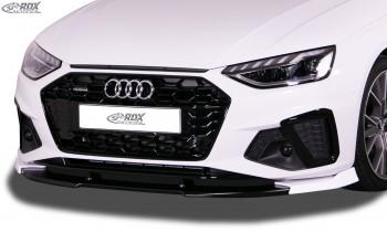 RDX Frontspoiler VARIO-X für AUDI A4 8W B9 Facelift (2019+, für S-Line- bzw. S4-Frontstoßstange) Frontlippe Front Ansatz Vorne Spoilerlippe