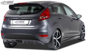 RDX Heckansatz für FORD Fiesta MK7 JA8 JR8 (2008-2012 & Facelift 2012+) Heckeinsatz Heckblende Diffusor