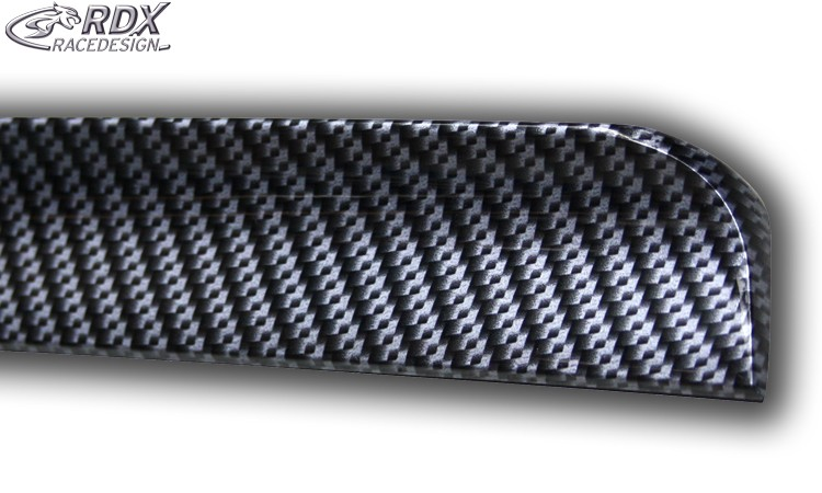 RDX Hecklippe Universal CARBON Look (flexibel, versch. Längen) Heckklappenspoiler Heckspoiler