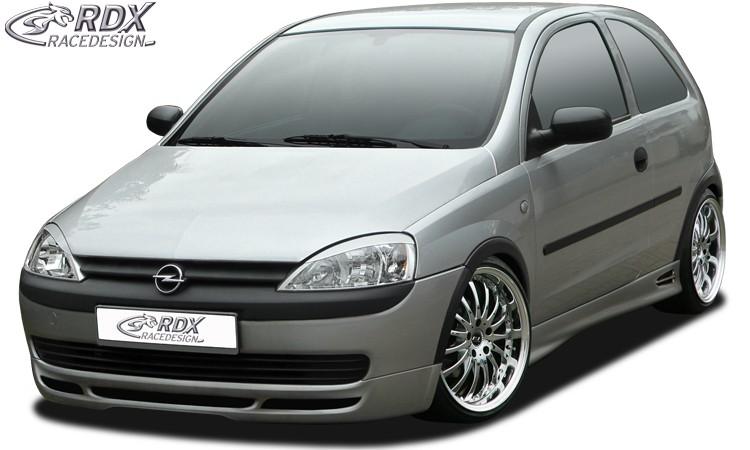 RDX Frontspoiler Opel Corsa C (bis 2002) Frontlippe Front Ansatz Spoilerlippe