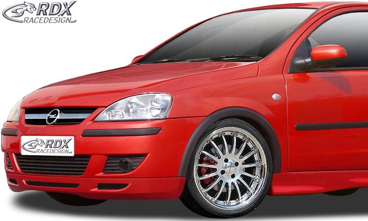 RDX Frontspoiler Opel Corsa C Facelift (ab 2002) Frontlippe Front Ansatz Spoilerlippe