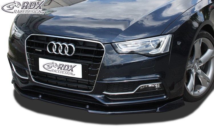 RDX Frontspoiler VARIO-X AUDI A5 2011+ / S5 (Coupe + Cabrio + Sportback; S-Line- bzw. S5-Frontstoßstange) Frontlippe Front Ansatz Vorne Spoilerlippe