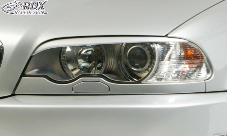 RDX Scheinwerferblenden BMW E46 Coupe / Cabrio (-2003) Böser Blick