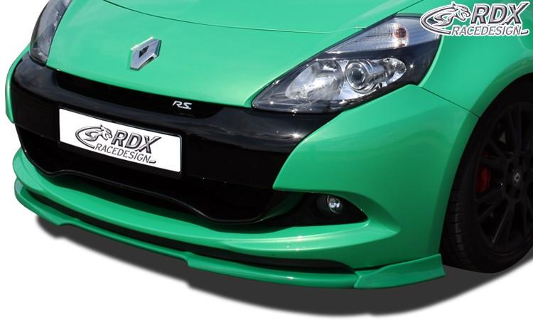 RDX Frontspoiler VARIO-X RENAULT Clio 3 RS Phase 2 Frontlippe Front Ansatz Vorne Spoilerlippe