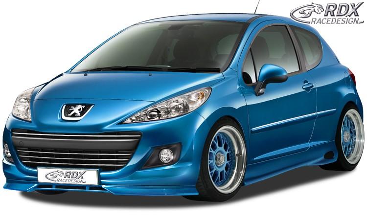 RDX Frontspoiler Peugeot 207 / 207CC Facelift 2009+ Frontlippe Front Ansatz Spoilerlippe