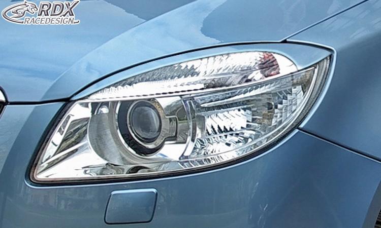 RDX Scheinwerferblenden Skoda Fabia 2 Typ 5J -2010 (auch für Roomster) Böser Blick