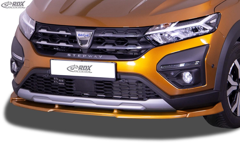 RDX Front Spoiler VARIO-X for DACIA Sandero 3 Stepway (2021+) Front Lip Splitter