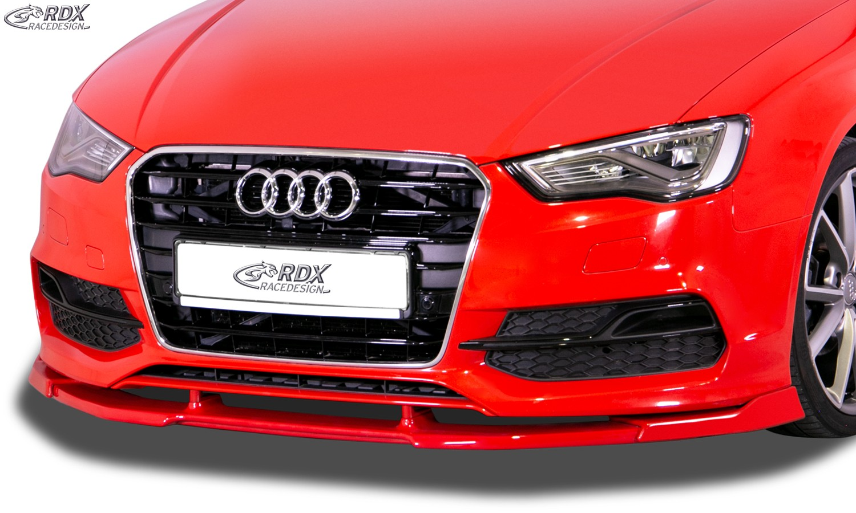 RDX Front Spoiler VARIO-X for AUDI A3 8V7 Cabrio Convertible / S3 Cabrio Convertible (S-Line- / S3 Frontbumper. -2016) Front Lip Splitter