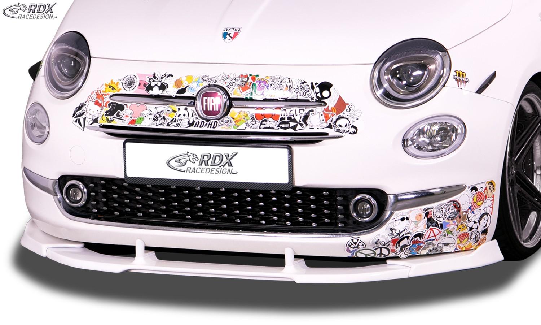 RDX Frontspoiler VARIO-X für FIAT 500 2016+ Frontlippe Front Ansatz Vorne Spoilerlippe