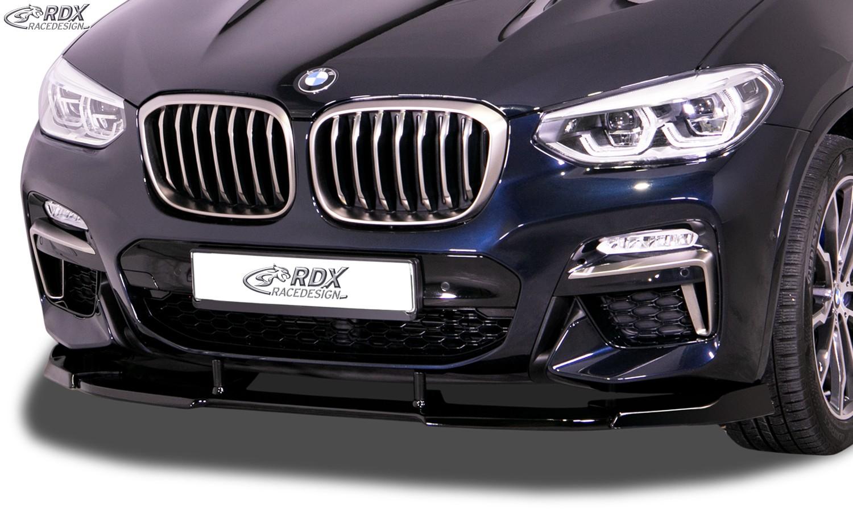 RDX Frontspoiler VARIO-X BMW X3 (G01) & BMW X4 (G02) für M-Sport & M-Aerodynamik-Paket Frontlippe Front Ansatz Vorne Spoilerlippe