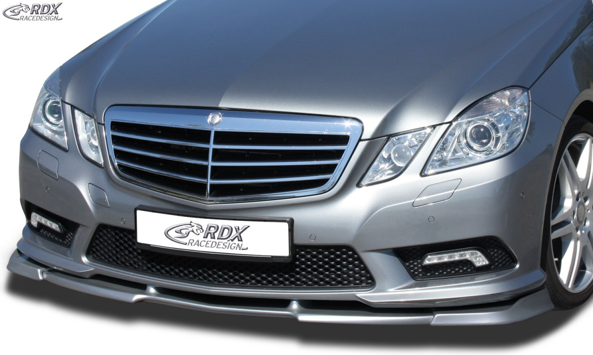 rdx front spoiler vario x mercedes e class w212 amg styling 2009 2013 fit for cars with amg. Black Bedroom Furniture Sets. Home Design Ideas