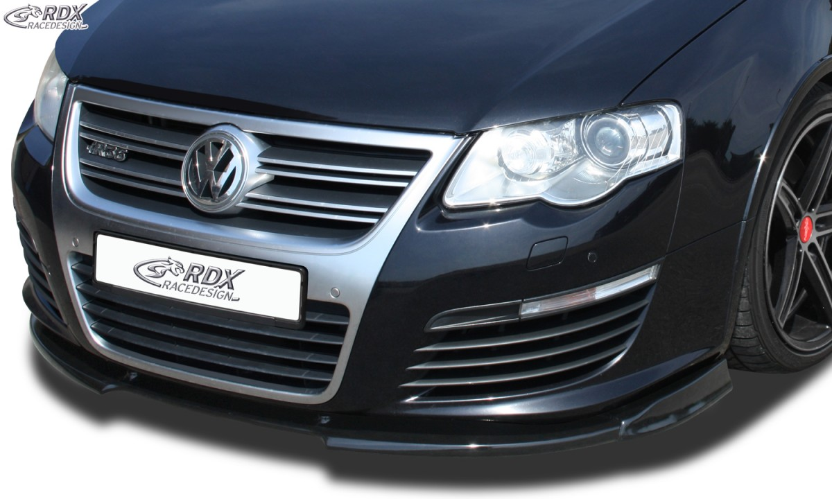 RDX Frontspoiler VARIO-X VW Passat B6 / 3C R36 Frontlippe Front Ansatz Vorne Spoilerlippe