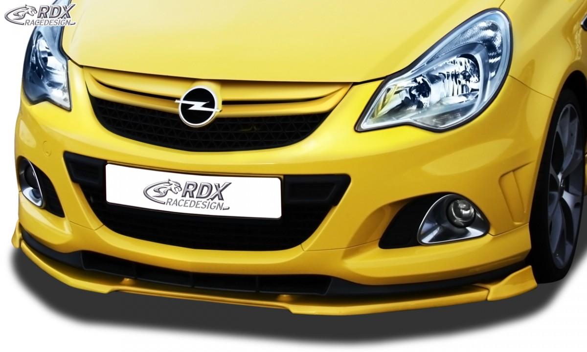 RDX Frontspoiler VARIO-X OPEL Corsa D Facelift OPC 2010+ Nürburgring Edition (Passend an OPC-NRE bzw. Fahrzeuge mit OPC Frontstoßstange und NRE Ansatz) Frontlippe Front Ansatz Vorne Spoilerlippe