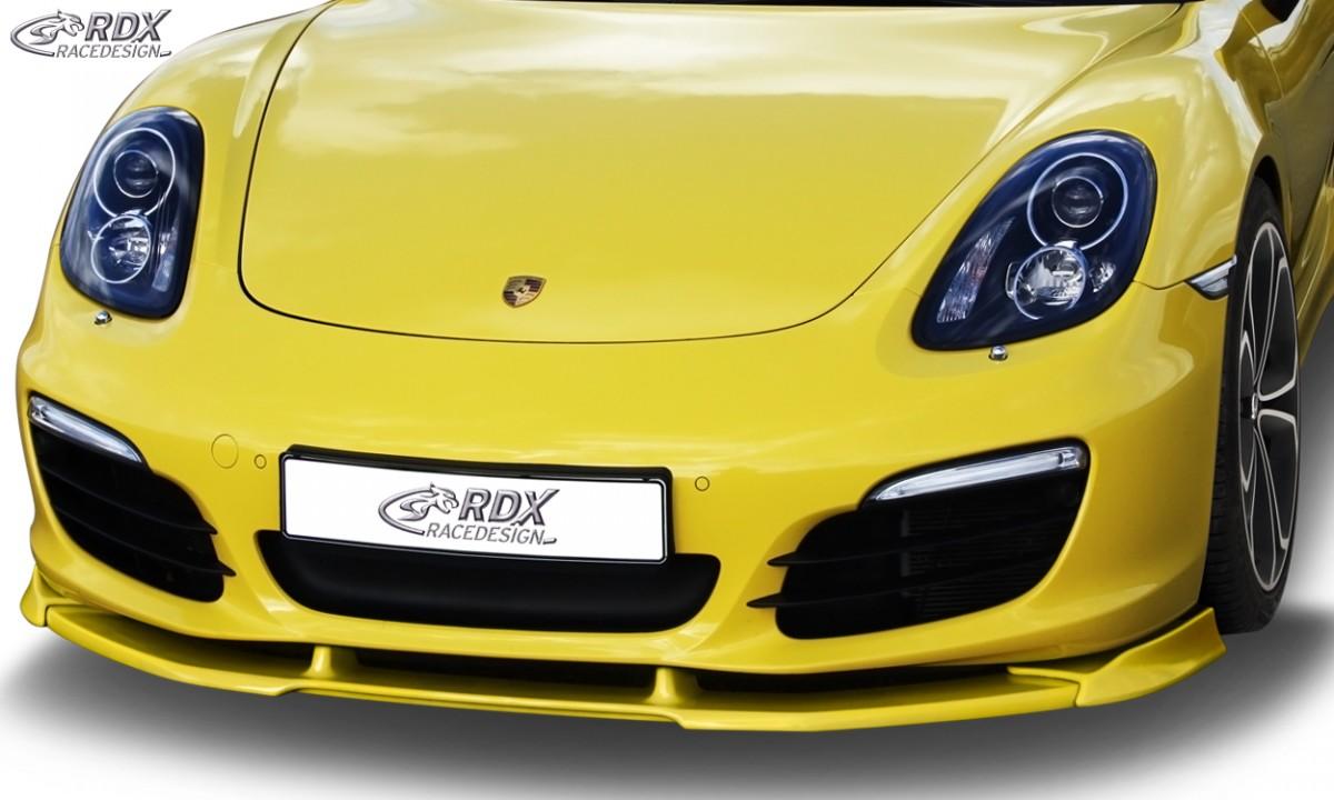 RDX Frontspoiler VARIO-X PORSCHE Boxster (981) 2012+ Frontlippe Front Ansatz Vorne Spoilerlippe