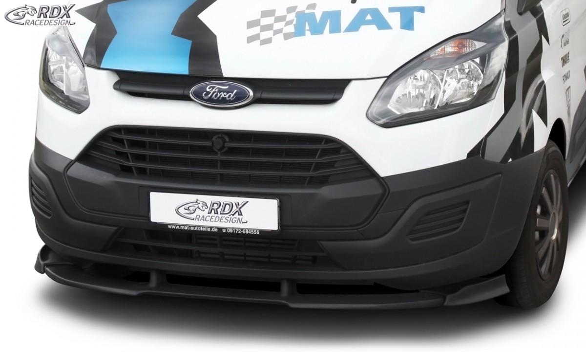RDX Frontspoiler VARIO-X FORD Transit Custom / Tourneo Custom 2012+ Frontlippe Front Ansatz Vorne Spoilerlippe
