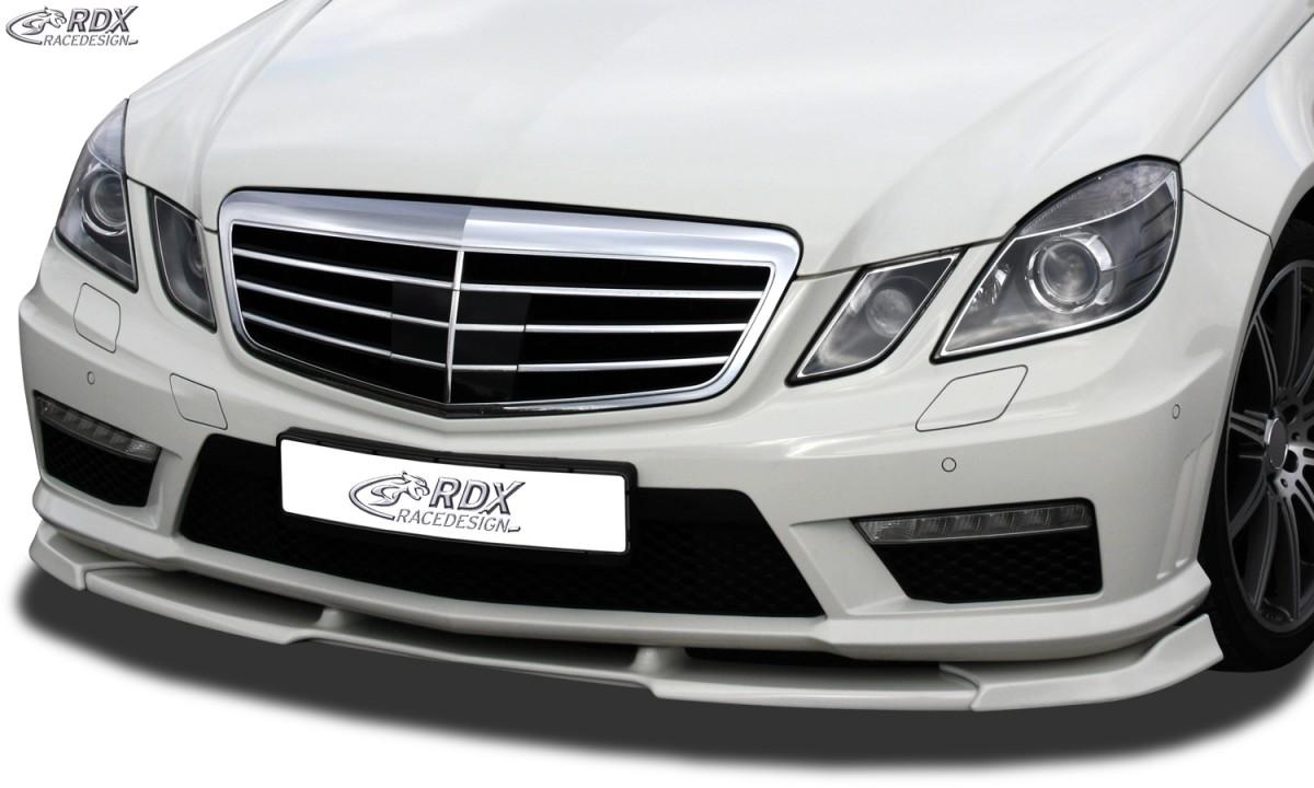 RDX Frontspoiler VARIO-X MERCEDES E-Klasse W212 AMG 2009-2013 Frontlippe Front Ansatz Vorne Spoilerlippe