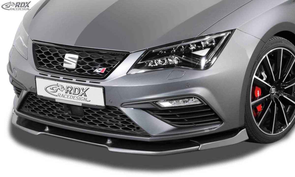rdx front spoiler for vario x seat leon 5f fr cupra. Black Bedroom Furniture Sets. Home Design Ideas