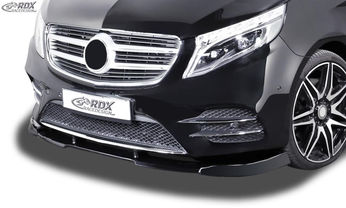 RDX Frontspoiler VARIO-X MERCEDES V-Klasse W447 2014+ AMG-Line Frontlippe Front Ansatz Vorne Spoilerlippe