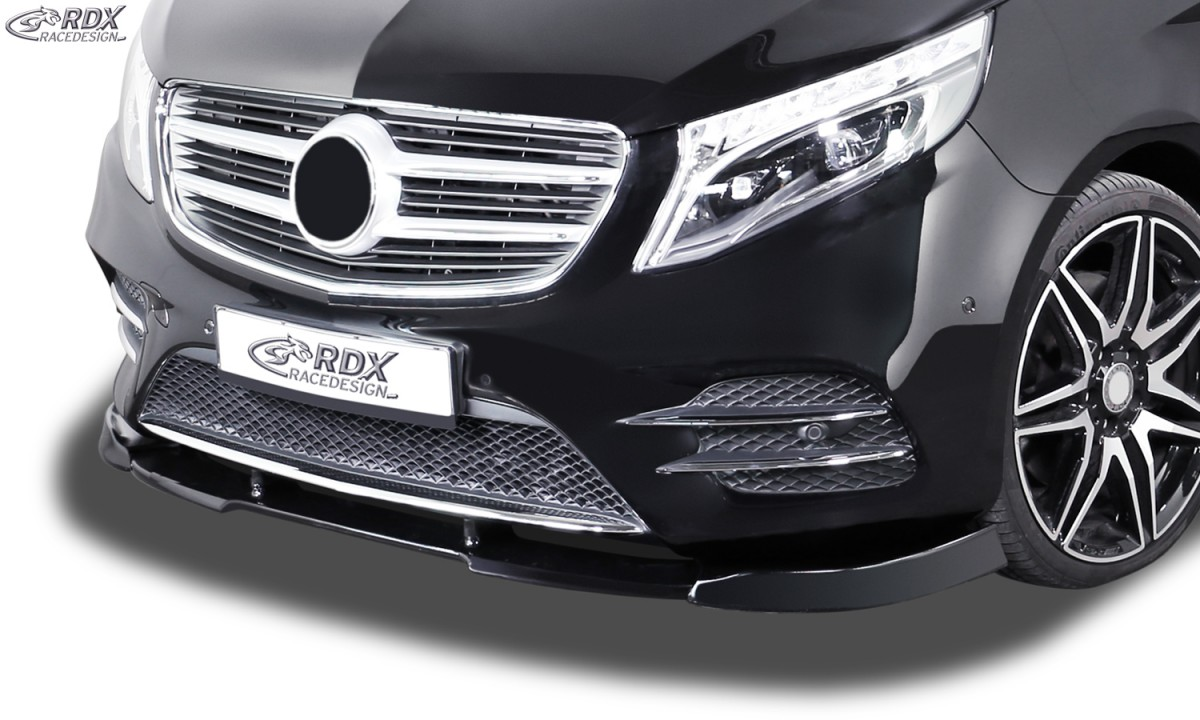 "RDX Frontspoiler VARIO-X ""V1"" für MERCEDES V-Klasse W447 AMG-Line Frontlippe Front Ansatz Vorne Spoilerlippe"
