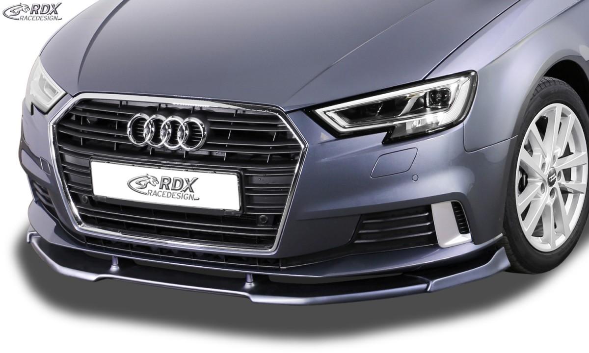 RDX Frontspoiler VARIO-X AUDI A3 8V, 8VA Sportback, 8VS Limousine, 8V7 Cabrio (Facelift 2016+) Frontlippe Front Ansatz Vorne Spoilerlippe