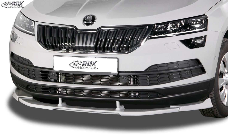 RDX Frontspoiler VARIO-X SKODA Karoq (NU) 2017+ Frontlippe Front Ansatz Vorne Spoilerlippe