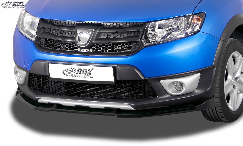 RDX Frontspoiler VARIO-X DACIA Sandero 2 Stepway Frontlippe Front Ansatz Vorne Spoilerlippe