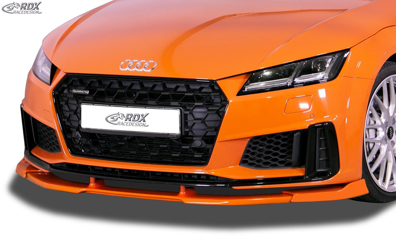 RDX Frontspoiler VARIO-X für AUDI TT (FV/8S) 2018+ (S-Line Frontstoßstange) & TTS Frontlippe Front Ansatz Vorne Spoilerlippe