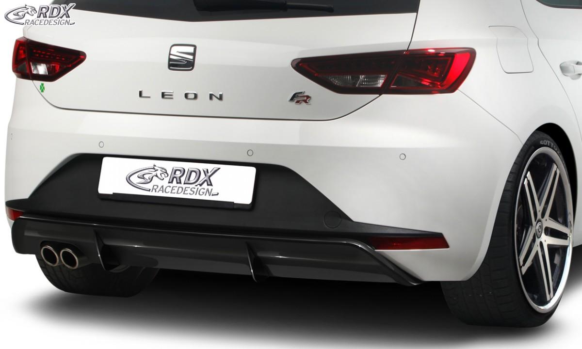 RDX Heckansatz SEAT Leon 5F FR / Leon 5F SC FR Diffusor Heckblende Heckdiffusor