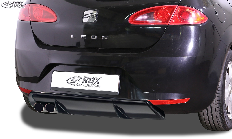 RDX Heckansatz für SEAT Leon 1P (-2009) Diffusor Heckblende Heckdiffusor