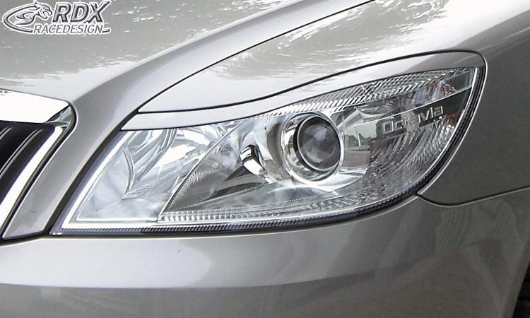 RDX Scheinwerferblenden Skoda Octavia 2 / 1Z Facelift 2008+ Böser Blick