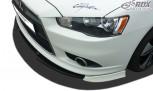 RDX Frontspoiler VARIO-X für MITSUBISHI Lancer Sportback 2008+ Frontlippe Front Ansatz Vorne Spoilerlippe