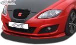 RDX Frontspoiler VARIO-X SEAT Leon 1P Facelift 2009+ (nicht FR, Cupra) Frontlippe Front Ansatz Vorne Spoilerlippe