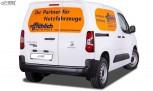 RDX Heckspoiler für CITROEN Berlingo, PEUGEOT Partner & Rifter, OPEL Combo, TOYOTA ProAce City mit Flügeltüren Dachspoiler Spoiler Flügeltürer