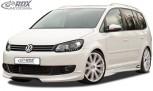 RDX Frontspoiler VW Touran 1T1 Facelift 2011+ Frontlippe Front Ansatz Vorne Spoilerlippe
