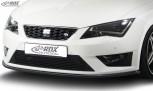 RDX Frontspoiler SEAT Leon 5F FR + Cupra / Leon 5F SC FR + Cupra / Leon 5F ST FR + Cupra Frontlippe Front Ansatz Vorne Spoilerlippe Schwert
