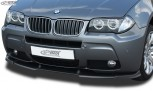 RDX Frontspoiler VARIO-X BMW X3 E83 M-Technik 2006+ Frontlippe Front Ansatz Vorne Spoilerlippe