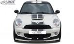 RDX Frontspoiler VARIO-X MINI R56 / R57 Cooper S Frontlippe Front Ansatz Vorne Spoilerlippe