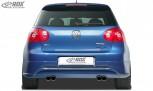 """RDX Heckansatz VW Golf 5 """"GTI/R-Five"""" mit Endrohrausfräsung links & rechts Heckschürze Heck"""